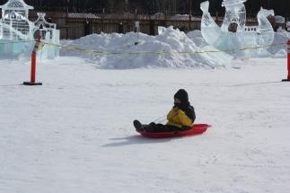 Gavin sledding